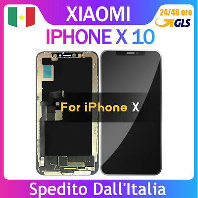 Schermo Display Con Oled Originale Per Apple Iphone X 10 Lcd Touch Screen Frame