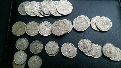 40 OLD BRITISH KGVI-QE II SHILLINGS 5p/'s ALL CLEAN NO BAD ONES FRUIT MACHINE