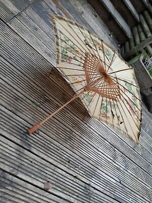 Vintage Oriental Parasol Beautful Condition (28)