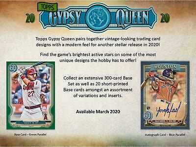 2020 Topps Gypsy Queen Factory Sealed 24 Pack Box - Fanatics