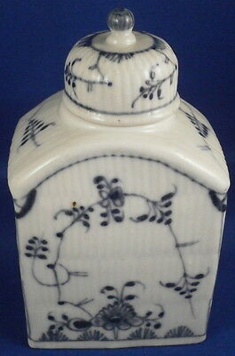 Antique 18thC Wallendorf Porcelain Strawflower Tea Caddy / Jar Porzellan Teedose