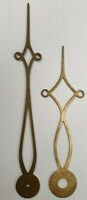 A Small Pair Of Diamond Style Brass Longcase/Grandfather Clock Hands.