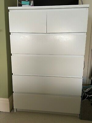 ikea white malm chest of drawers