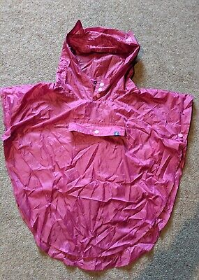 Joules Girls Ani-Mac Cover Up With Character Kagool Jacket Cat Ears Size S/M