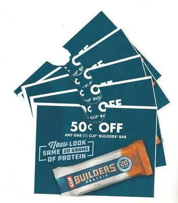 14 x Save $0.50 on Clif Builders Protein Bars Coups UPC 636 (Canada)