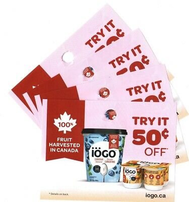 14 x Save $0.50 on Iogo Canadian Harvest Yogurt Products Coups (Canada)