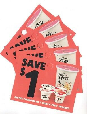 14 x Save $1.00 on Light & Free Yogurt products Coups (Canada)