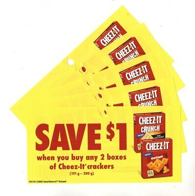 12x Save $1 on Cheez-It Crackers Coups (Canada)
