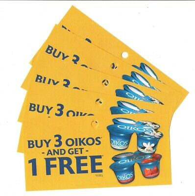 14 x Buy 3 Get 1 FR33 Oikos Yogurt 4pk Coups (Canada)