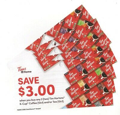 10 x Save $3.00 on Tim Hortons K-Cup Coffee Coups (Canada)