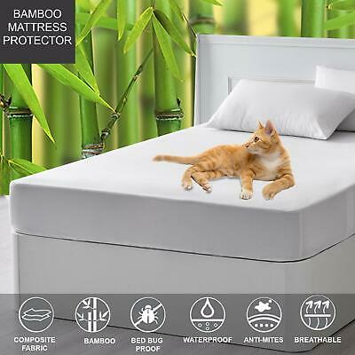 Mattress Protector for Twin Queen King - Bamboo Terry,Cool,Breathable,Waterproof