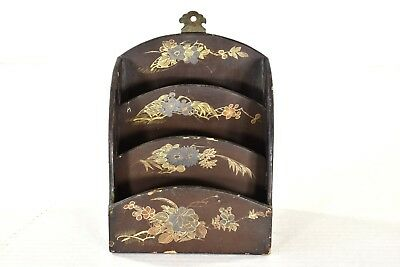 Antique Chinese Hand Painted Lacquered Wooden Hanged Box