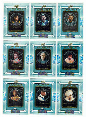 Black Panther Complete 9 Card Chase Set Language of The People LOTP1 to LOTP9