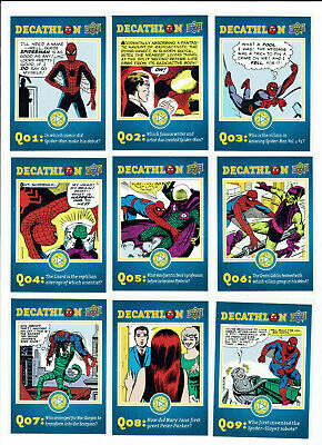 Spider-man Homecoming Complete 24 Card Chase Set Decathlon SD1 - to SD24