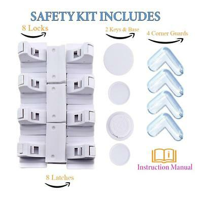 Child Proof Magnetic Safety Cabinet Lock SET Baby Proofing Lock for Cabinets