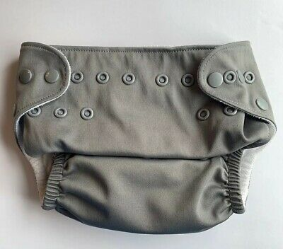 Lil Helper Cloth Diaper With Snap In Inserts Gray Pre Owned