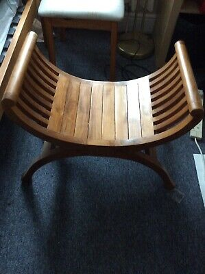 Curved Shaped Seat Great Nursing Chair Footstool Bedside Dressing Stool