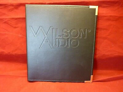 Wilson Audio Watch Surround Rear Speaker Leather Bound Owners Manual Rare