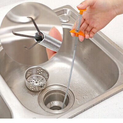 Device Tools Spring Pipe Sink Cleaning Hook 60cm Kitchen Sewers Dredging Duable