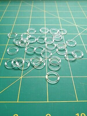 20 Pack 10mm Clear Plastic Rings Lingerie/bra Making/Craft/Jewellery Making