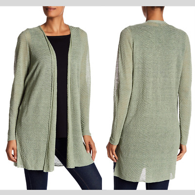 NWT $278 Eileen Fisher Simple Knit Cardigan Sea Green [ SZ Medium ] #3011