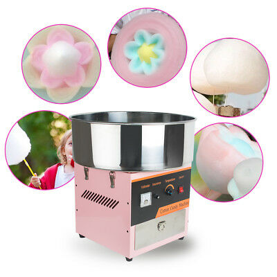 【US】 Cotton Candy Floss Maker Machine Electric Commercial Party Store Booth