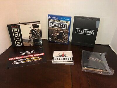 Days Gone PS4 with Collector's Edition Extras! Steelbook, NO GAME NO STATUE