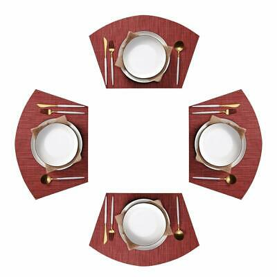 Khaki Baishuo GRELUCGO Set of 7 Wedge Placemats and Centerpieces Set for Round Tables