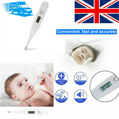 2PC Baby Adult Safe Oral Electronic Thermometer Digital LCD Home Thermometer
