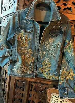 "Denim jacket.Designer ""De Carotte Jaune"".Pls open listing 4 details.As vintage."
