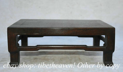 "12"" Collect Old China Chinese Huanghuali Wood Dynasty Palace Kang Table"