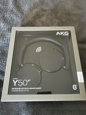 Black AKG Y50BT Foldable Bluetooth Wireless Headphones BN&S Int'l shipping