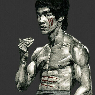 """Bruce Lee poster wall art home decor photo print 16"""", 20"""", 24"""" sizes"""