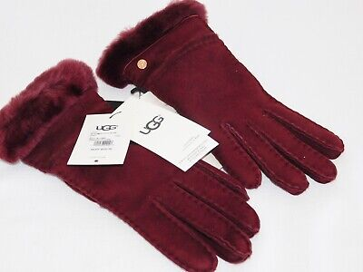 New Nwt Womens Small Port Ugg Seamed Tech Suede Sheepskin Gloves 17371 $110