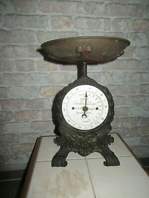 Antike Gloria Familien Wagge DRP 10 kg Wagge Jugendstil