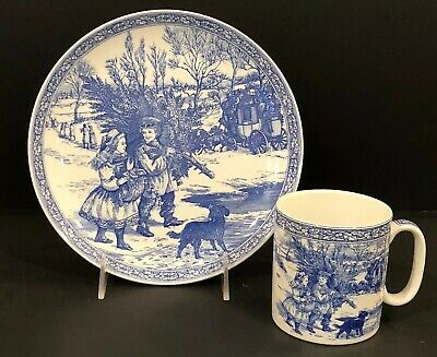Spode Blue Room Collection Victorian Plate Number 1 and Mug Set