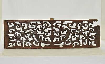 Antique Chinese Red Wooden Carved Panel, 19th c