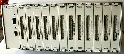 NI National Instruments SCXI-1001 Chassis and 12 SCXI-1125 Modules