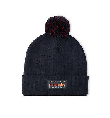 Aston Martin Red Bull Racing F1 Official Adults Bobble Beanie - 2020