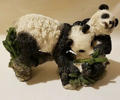 Collectible Resin Panda Bears Statue