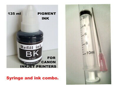 Pigment black refill ink kit for Canon printers