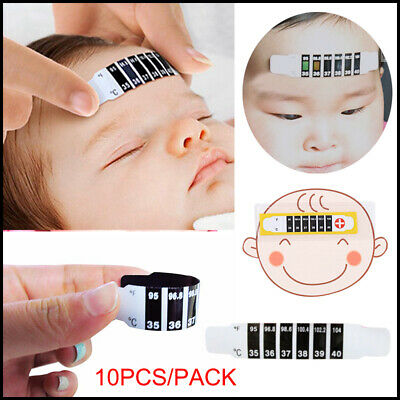 10x Forehead Thermometer Strip Fever Baby Child Adult Temperature Test Reusable