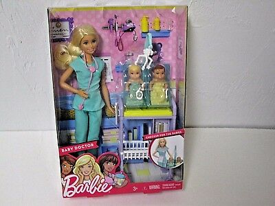 Barbie Baby Doctor Playset Barbie Doll with Babies