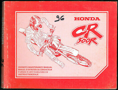 Revue d'Atelier HONDA CR 500 R - 1996 Manuel technique Manual Wartungs Handbuch