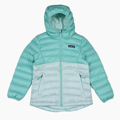 New Girl Patagonia Reversible Down Sweater Hoody Hooded Jacket S Age 7 - 8 BNWT