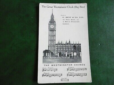 Westminster Clock (Big Ben) - Advertising card - E.Dent & Co Ltd