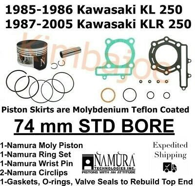 Namura Piston Kit 1987-04 Kawasaki KLR 250 Kawasaki 250 Mojave 74.95MM .040 Over