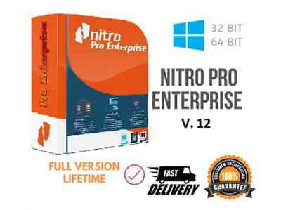 NITRO PRO 12 – LIFETIME - Full Activation- Windows 32/64 Bit-for One PC
