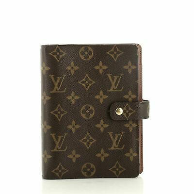 Louis Vuitton Ring Agenda Cover Monogram Canvas MM