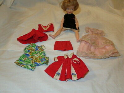 "Vintage 8"" Penny Brite Deluxe Reading Doll w/5 Outfits 2 Pairs of Shoes"